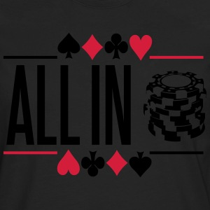 Poker: All in T-shirts - Långärmad premium-T-shirt herr