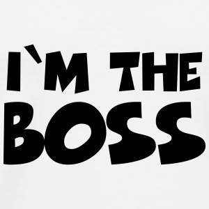 I'm the Boss Flasker & krus - Herre premium T-shirt