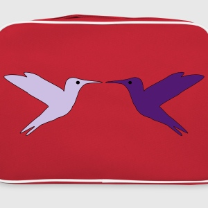 Hummingbirds in Love Camisetas - Bandolera retro