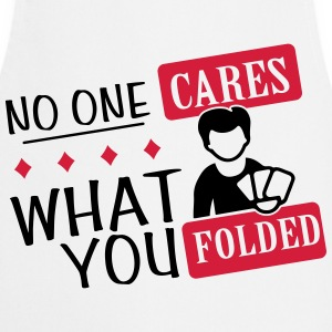 Poker: No one cares what you folded T-shirts - Keukenschort