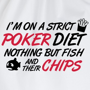 Poker diet: Fish and their chips T-shirts - Gymnastikpåse
