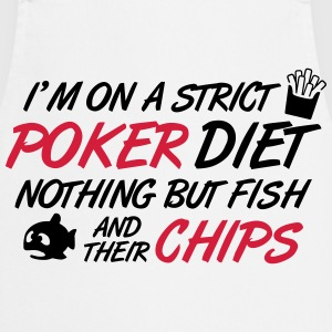 Poker diet: Fish and their chips T-shirts - Forklæde