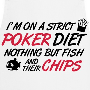 Poker diet: Fish and their chips T-skjorter - Kokkeforkle