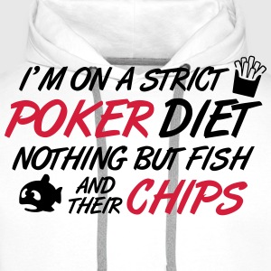 Poker diet: Fish and their chips Tee shirts - Sweat-shirt à capuche Premium pour hommes