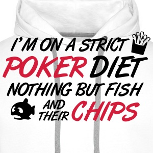 Poker diet: Fish and their chips T-shirts - Herre Premium hættetrøje