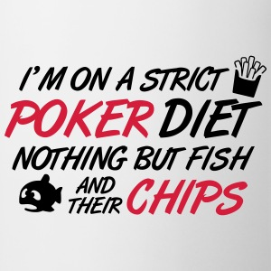 Poker diet: Fish and their chips Camisetas - Taza