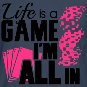 Life is a game and I'm all in T-shirts - Mannen Premium shirt met lange mouwen