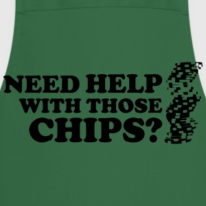 Poker: Need help with those chips? T-shirts - Keukenschort