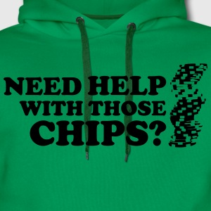 Poker: Need help with those chips? Camisetas - Sudadera con capucha premium para hombre
