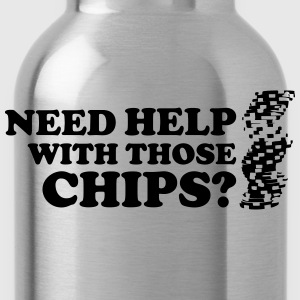 Poker: Need help with those chips? Camisetas - Cantimplora
