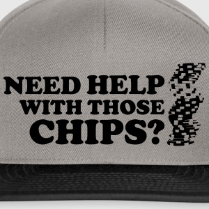 Poker: Need help with those chips? Koszulki - Czapka typu snapback