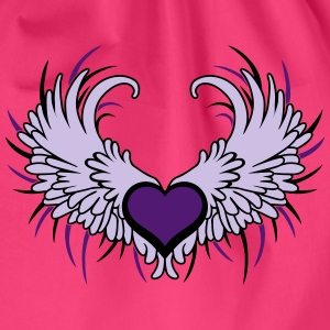 Heart with Wings T-shirts - Sportstaske