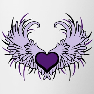 Heart with Wings T-shirts - Kop/krus