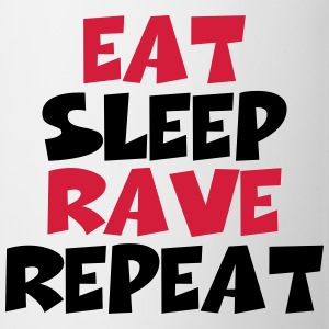 Eat, sleep, rave, repeat Manga larga - Taza