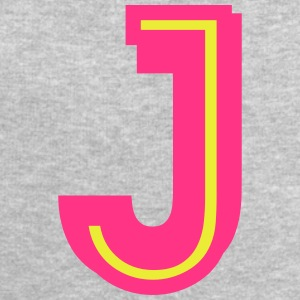 J neon pink yellow T-Shirts - Men's Sweatshirt by Stanley & Stella