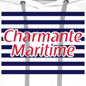 Charmante Maritime 2 Badges - Sweat-shirt à capuche Premium pour hommes