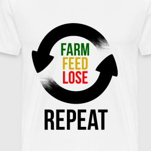 Farm Feed Lose Repeat Pullover & Hoodies - Männer Premium T-Shirt