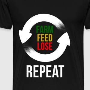 Farm Feed Lose Repeat in Weiß Pullover & Hoodies - Männer Premium T-Shirt