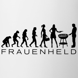 Evolution Frauenheld BBQ T-Shirts - Tasse