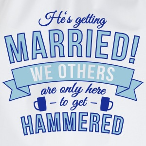 He's getting married, we others are only here to.. Hoodies & Sweatshirts - Drawstring Bag