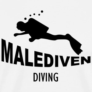Malediven Diving Tank Tops - Männer Premium T-Shirt