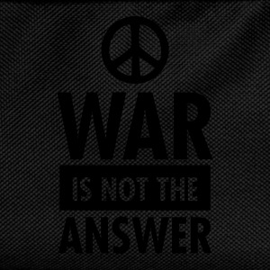 War Is Not The Answer (Peace Sign) T-Shirts - Kids' Backpack