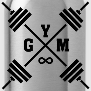 Gym Cross (Infinity Symbol) T-Shirts - Trinkflasche