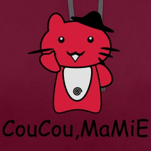 coucou mamie Manches longues - Sweat-shirt contraste