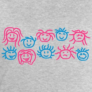 10 visages souriants de groupe d'amis Tee shirts - Sweat-shirt Homme Stanley & Stella