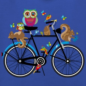 forest animals on a bike  T-Shirts - Kids' Premium Hoodie