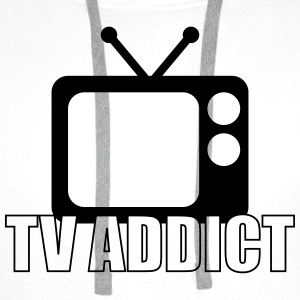 TV Addict Tee shirts - Sweat-shirt à capuche Premium pour hommes