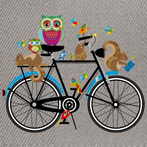 forest animals on a bike  T-Shirts - Snapback Cap