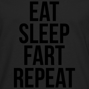 eat sleep fart repeat Sweat-shirts - T-shirt manches longues Premium Homme