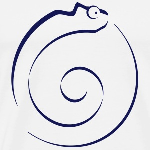 Chameleon outline Bottles & Mugs - Men's Premium T-Shirt