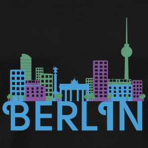 Skyline Berlin Tops - Männer Premium T-Shirt