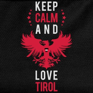 Keep calm and love Tirol weiss T-Shirts - Kinder Rucksack