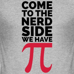 The Nerd Side - Pi Hoodies & Sweatshirts - Men's Slim Fit T-Shirt