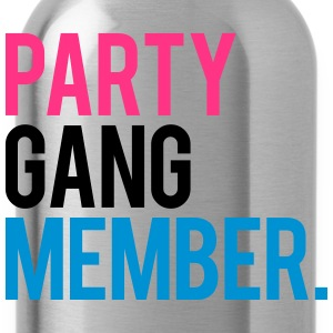 Party Gang Member Text Logo T-Shirts - Trinkflasche