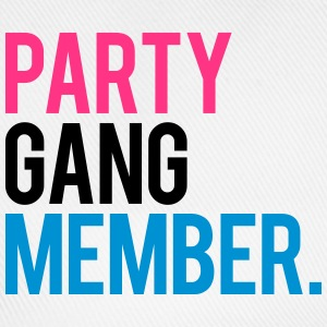 Party Gang Member text logo T-Shirts - Baseball Cap