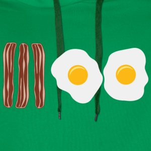 Bacon and Eggs T-Shirts - Men's Premium Hoodie