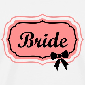 bride retro frame with bow Tops - Mannen Premium T-shirt