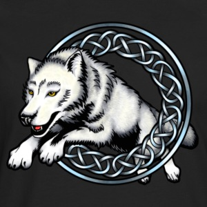 Leaping Wolf T-Shirts - Men's Premium Longsleeve Shirt