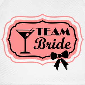 team bride, retro frame with bow Tops - Baseballcap