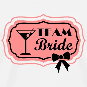 team bride, retro frame with bow Tops - Mannen Premium T-shirt