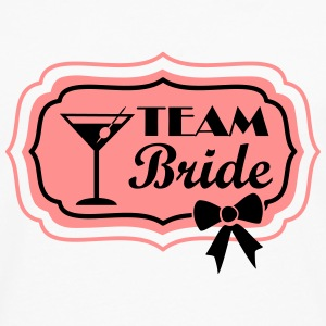 team bride, retro frame with bow Top - Maglietta Premium a manica lunga da uomo