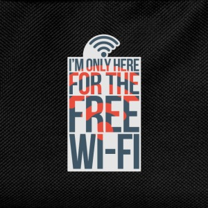 I'm Only Here For The Free WI-FI - Kids' Backpack