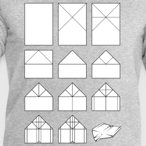 Paper airplane folding instructions T-Shirts - Men's Sweatshirt by Stanley & Stella