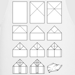 Paper airplane folding instructions T-Shirts - Cooking Apron