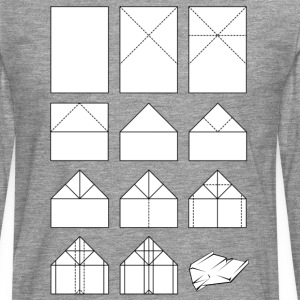 Paper airplane folding instructions T-Shirts - Men's Premium Longsleeve Shirt