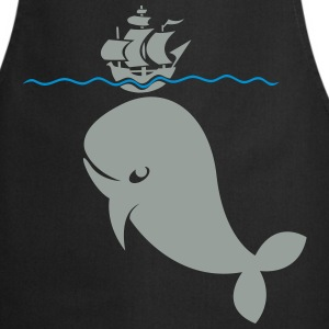 Wal under pirate ship T-Shirts - Cooking Apron